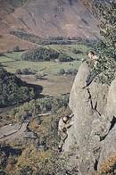 Postcard Climbing In Borrowdale Cumberland Rock Climb Called Fleur De Lys My Ref  B23134 - Climbing