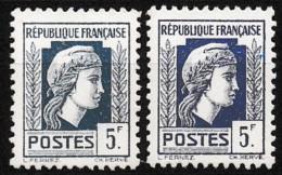 1944 Variété Sur Y&T 645 Claire Et Foncée N** - Curiosities: 1941-44 Mint/hinged