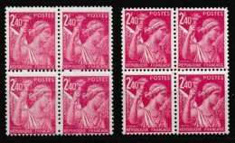 1944 Variété Sur B4 Y&T 654 Claire Et Foncée N** - Curiosities: 1941-44 Mint/hinged