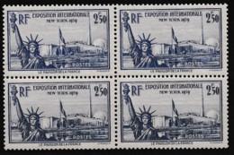 1940 Y&T N° 458 Bloc De 4 N** - Ongebruikt