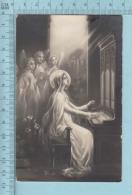 Religion - Grande Image Sainte Cecile Patronne Des Musiciens, Anges - Santini, Holy Card, Image Pieuse - Saints