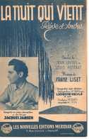 CAF CONC 40 60 JACQUES JANSEN PARTITION LISZT LA NUIT QUI VIENT RÊVE D'AMOUR LOYSEL POTERAT DELYLE PESENTI 1939 GUITARE - Music & Instruments