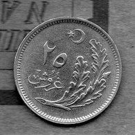 Turquie - 25 Kurus 1922 / 1341 - Turkije
