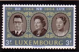 Luxembourg 1964 - N°651 XX -   20ème Anniversaire De L'union Douanière BENELUX - Neufs