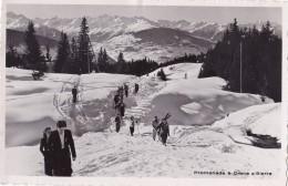 Photo Carte Promenade à Crans S/Sierra Circulée En 1946 - VS Valais