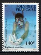 POLINESIA FRANCESE - 1989 - PESCATORE DI CONCHIGLIE - USATO - Polinesia Francese