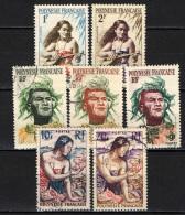 POLINESIA FRANCESE - 1958 - RAGAZZA CHE SUONA LA CHITARRA E POLINESIANI - USATI - Polinesia Francese