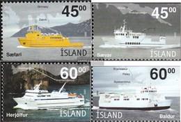 Island 1034Eu-1037Eo (completa Edizione) MNH 2003 Inselfähren - 1944-... Repubblica