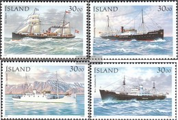 Iceland 828-831 (complete Issue) Fine Used / Cancelled 1995 Steamers - 1944-... Republic