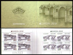 BULGARIA / BULGARIE - 2018 - EUROPA - SEPT - Ponts - Carnet Obl. - Bulgarije