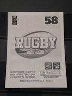 Image Album Panini - Rugby 2017-2018 - N° 58 - Panini