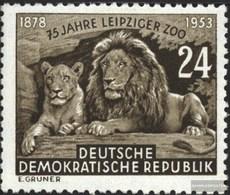 DDR 397 (kompl.Ausg.) Mit Falz 1953 75 Jahre Leipziger Zoo - [6] République Démocratique