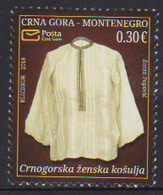 MONTENEGRO ,2018,MNH,NATIONAL HERITAGE, SHIRT, CLOTHES, 1v - Costumes
