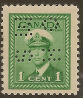 CANADA 1942 1c OHMS Perfin SG O137 HM #IL46 - Officials