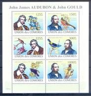 M47- Comores Comoros Komoren 2008. Birds. Plants.Tree. Flowers. John James Audubon & John Gould. - Birds