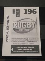 Image Album Panini - Rugby 2017-2018 - N° 196 - Panini