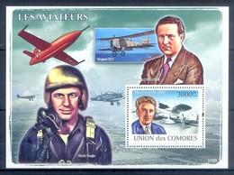 M49- Comores Comoros Komoren 2008. Transports. Aircraft. Airmen. Aviateurs. - Airplanes