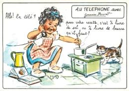 GERMAINE BOURET  EDITION MD  5697 4/2  AU TELEPHONE  ALLO LA TELE POUR VOTRE RECETTE C'EST 1/2 LIVRE DE BEURRE QU'IL FAU - Bouret, Germaine