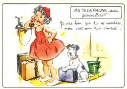 GERMAINE BOURET  EDITION MD  5697 4/3  AU TELEPHONE JE VEUX BIEN QUE TU M'EMMENES MAIS C'EST MOI QUI CONDUIT - Bouret, Germaine