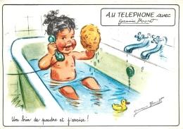 GERMAINE BOURET  EDITION MD  5697 4/4  AU TELEPHONE  UN BRIN DE POUDRE ET J'ARRIVE - Bouret, Germaine