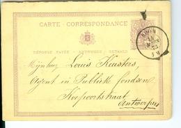 Carte Correspondance AS CàD Boom 1873  à Louis Keusters Agent In Publieke Fondsen Antwerpen - Boom