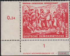 DDR 287DV With Publication Info Unmounted Mint / Never Hinged 1951 German-Chinese Friendship - Unused Stamps