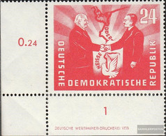 DDR 284DZ With Printing Signs Unmounted Mint / Never Hinged 1951 German-Polish Friendship - Unused Stamps