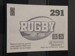 Image Album Panini - Rugby 2017-2018 - N° 291 - Panini