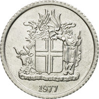Monnaie, Iceland, Krona, 1977, TTB, Aluminium, KM:23 - Islande