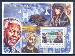 M57- Comores Comoros Komoren 2008. Nelson Mandela. Nobel Prices. Humanists. - Nobel Prize Laureates