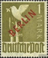 Berlin (West) 33 Tested Unmounted Mint / Never Hinged 1949 Rotaufdruck - [5] Berlin