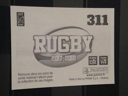 Image Album Panini - Rugby 2017-2018 - N° 311 - Panini