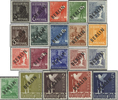 Berlin (West) 1-20 Tested (complete Issue) Volume 1948 Completeett Unmounted Mint / Never Hinged 1948 Black Imprint - [5] Berlin