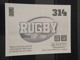 Image Album Panini - Rugby 2017-2018 - N° 314 - Panini