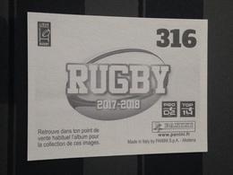 Image Album Panini - Rugby 2017-2018 - N° 316 - Panini