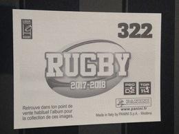 Image Album Panini - Rugby 2017-2018 - N° 322 - Panini