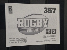 Image Album Panini - Rugby 2017-2018 - N° 357 - Panini
