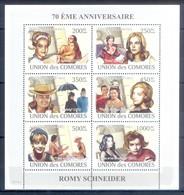 M68- Comores Comoros Komoren 2008. 70th Anniversary Of Romy Schneider. - Cinema