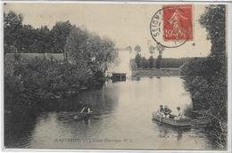 89 HAUTERIVE . L'usine électrique N°1 , Barques De Promeneurs , édit : A Toulot , écrite En 1908 , état Extra - Frankrijk
