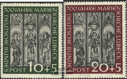 FRD (FR.Germany) 139-140 (complete Issue) With Hinge 1951 700 Years St. Mary's Lübeck - Unused Stamps
