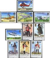 United Kingdom - Alderney 18-27 (complete.issue.) Volume 1985 Completeett Unmounted Mint / Never Hinged 1985 Airport, Un - Alderney