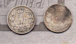 Serbie - 2 Pièces De 50 Para 1904 (argent / Silver) - Serbie