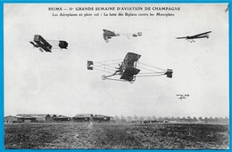 CPA 51 REIMS - IIe GRANDE SEMAINE D' AVIATION De CHAMPAGNE (1910) Aéroplanes Biplans Monoplans - Meetings