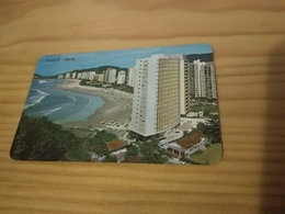 "Brazilian Pocket Calendar ""Guarujá Brasil ,"" Advertising  VARIG Servindo A Jato O Progresso Brasileiro,  - 1968 - Calendars"