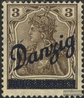 Danzig 34 Gefälligkeitsentwertung Gestempelt 1920 Schrägaufdruck - Dantzig