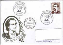Moldova ;   Moldavie ;  Moldau  ;  2010 ; Poet  M.Eminescu  ; Special Cancell . - Moldova