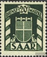 Saarland D41 Gestempelt 1949 Wappen - Service