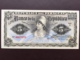 PARAGUAY P156 5 GUARANI 1907 UNC - Paraguay