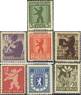 Soviet Zone (Allied.cast.) 1B-7B (complete Issue) Unmounted Mint / Never Hinged 1945 Berlin Bear - Soviet Zone