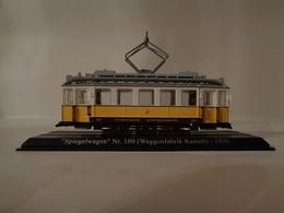 TRAMWAY  SPIEGELWAGEN N°100 ( WAGGON-FABRIK RASTATT ) KARLSRUE 1930 -1/43  Avec Notice - Voitures, Camions, Bus